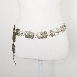 Vtg Western Cowgirl Metal Concho Belt